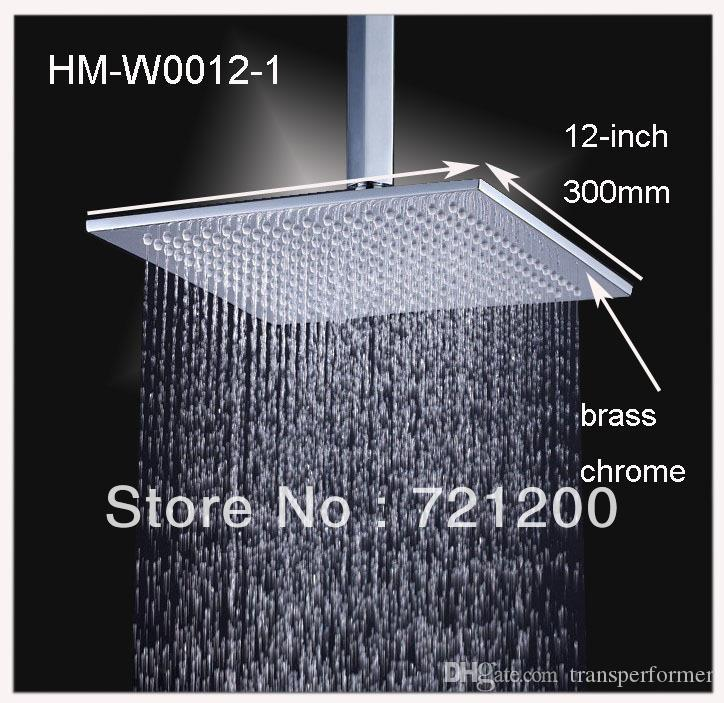2019 12 Inches Square Shower Head Brass Square Rain Shower 160313