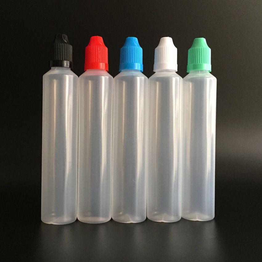 Бутылка в форме ручки 60 мл LDPE E Жидкая бутылка с защитной крышкой от детей и длинным тонким наконечником, пластиковая бутылка-капельница с длинным стилем для сока E