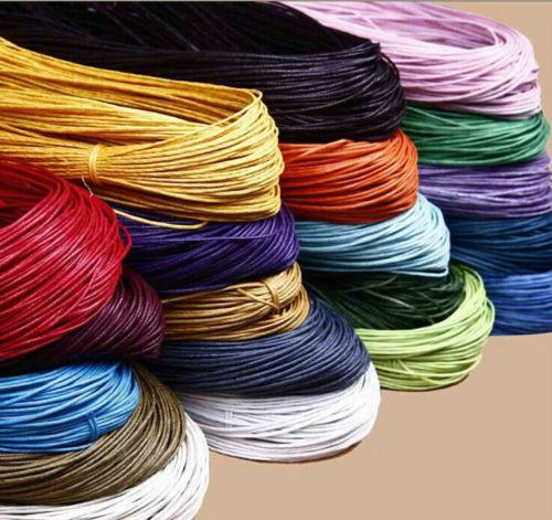 400m Waxed Cotton Cord Various Colours And Lengths Available Jewelry Making 1mm