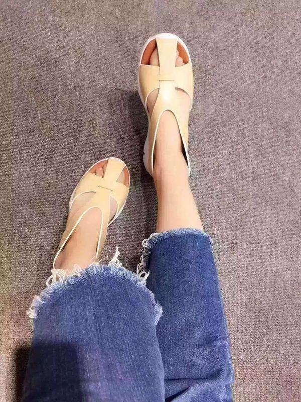 Genuine sheepskin sandals Women Summer casual shoes sheepskin insole very good foam rubber sole Eu35-40