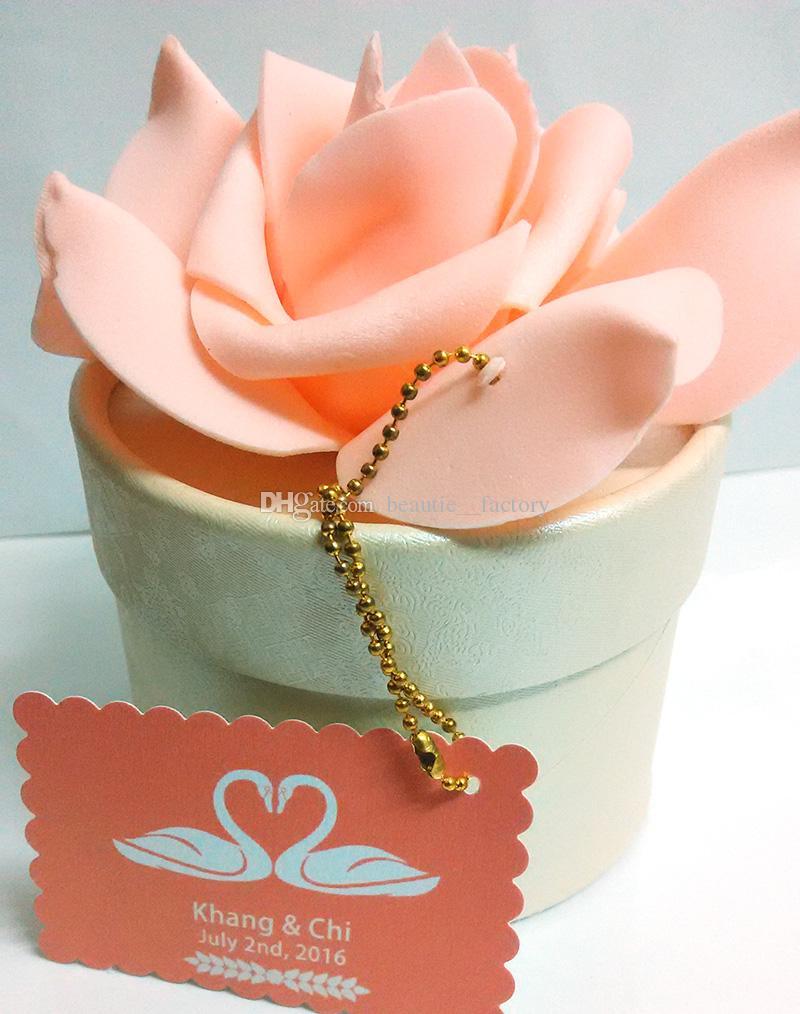 20 stks roze roze sieraden geschenkdozen bruiloft gunsten snoep doos Kerstmis