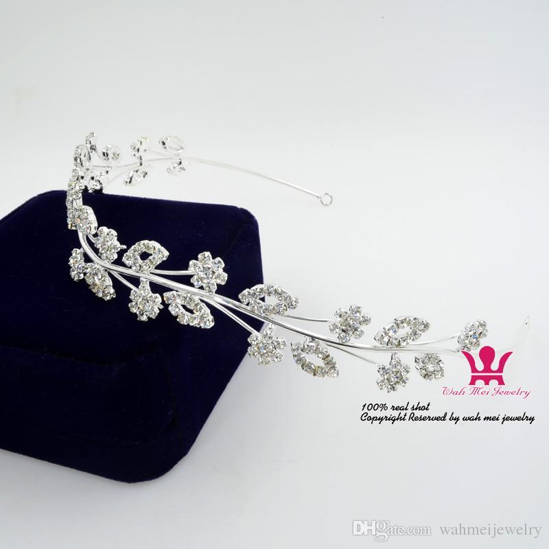 Rhinestone Kafa Saç Aksesuarları Gelin Düğün Tiaras Taçlar Garland Prenses Çiçek Pretty Kızlar Yunanistan Parti Performansı Gösterisi 01509