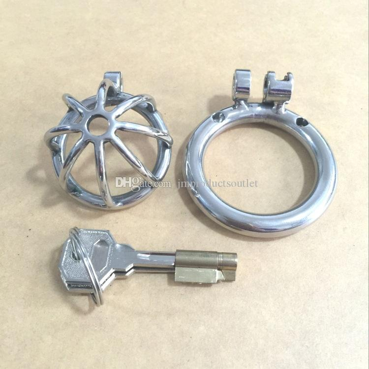 """New design 30mm length Stainless Steel Super Small Male Chastity Device 1.2"""" Short Cock Cage For BDSM"""