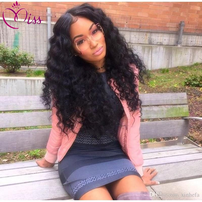 Top Malaysian Curly Full Lace Wig With Baby Hair Hair Deep Curly Full Lace Human Hair Wigs For Black Women Lace Front Wig