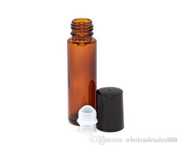 10ml 향수 병에 롤, 병에 앰버 에센셜 오일 롤, 작은 유리 롤러 컨테이너 / DHL에 의해 무료 배송
