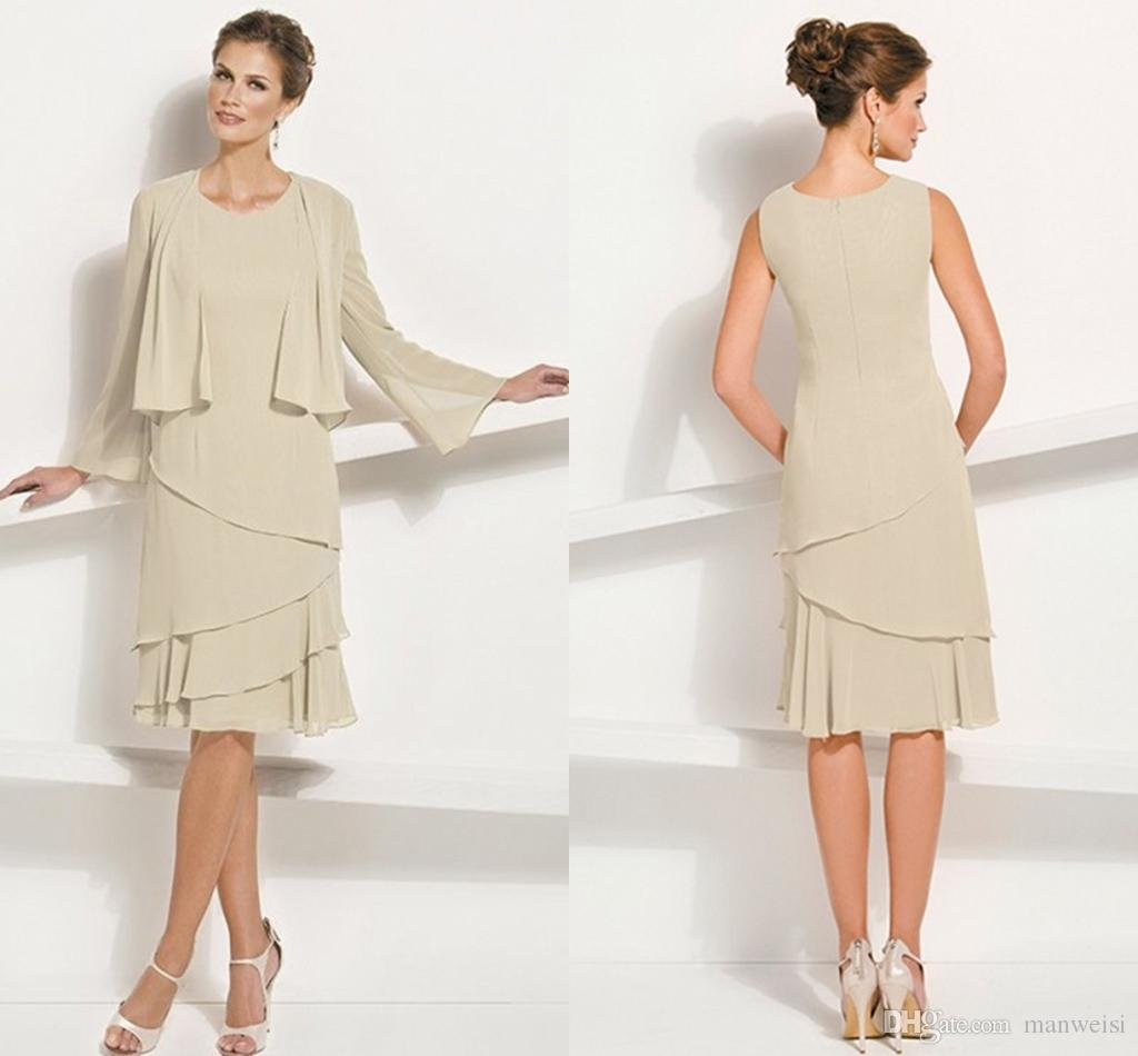 Cheap Chiffon Mother Of The Bride Dresses For Wedding Knee