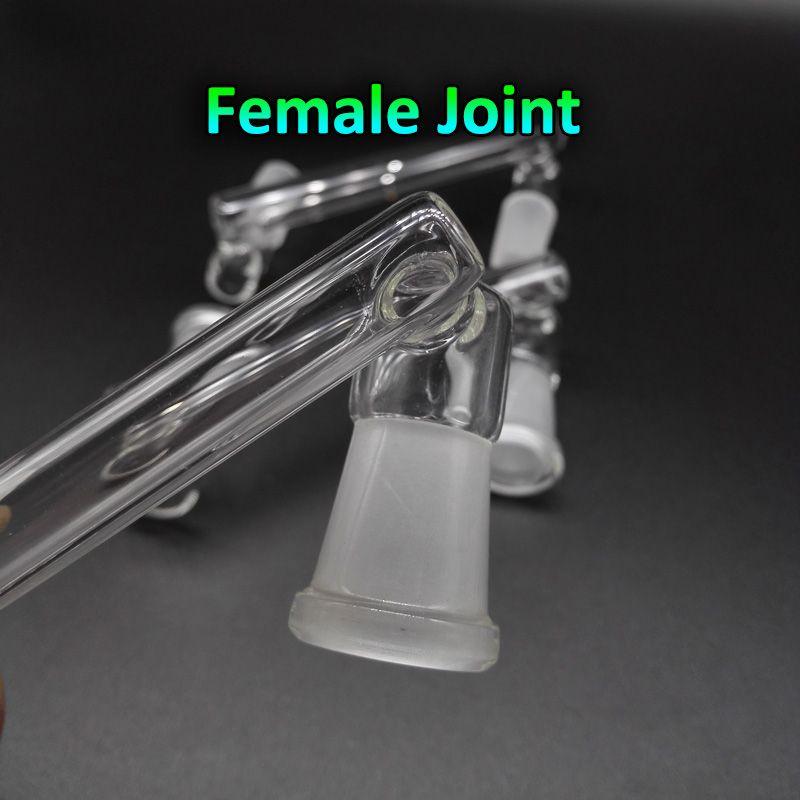 유리 드롭 다운 어댑터 남성 여성 14mm 14mm ~ 14mm 18mm 여성 유리 드롭 다운 어댑터에 대 한 베벨 에지 쿼츠 banger 유리 물 봉