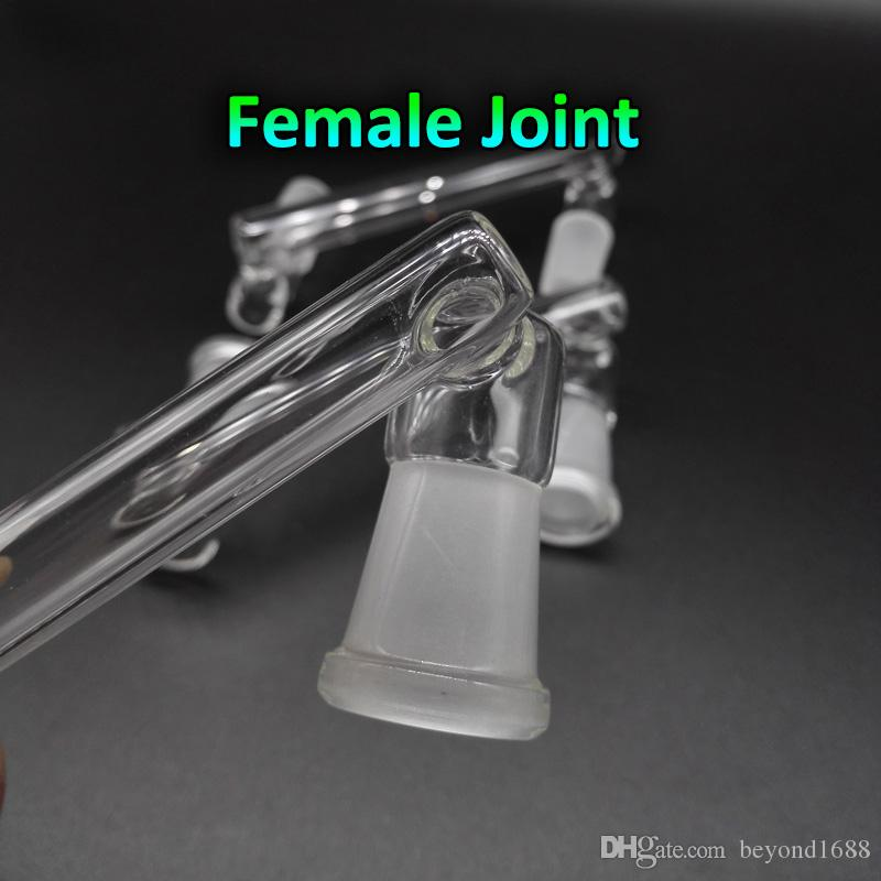 Glass Drop Down Adapter 10 Styles Option Female Male 14mm 18mm To 14mm 18mm Female Glass Dropdown Adapters For Oil Rigs Glass Bongs