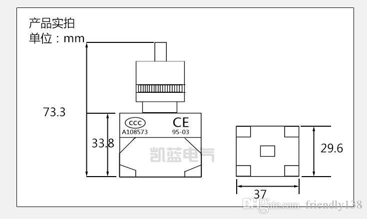 Вращающиеся переключатели 10A 1NO 1nc 22mm диаметр 2 или 3 Положения поддерживали переключатели LAY37-11X/2 11X / 3