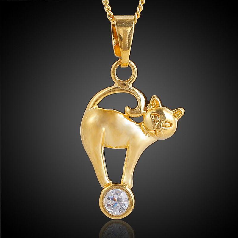 2018 arabic artwork brass plated 18k gold cat pendant for necklace 2018 arabic artwork brass plated 18k gold cat pendant for necklace bracelets charm fashion jewelry findings from zhenlianghouse 151 dhgate aloadofball Gallery