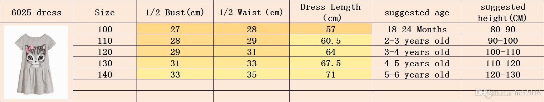 Baby & Kids Clothing Girls' Dresses Summer Korean Preppy Style Cotton Boat Neck Short sleeve Animal cat Printed Knee-Length A-Line Dress