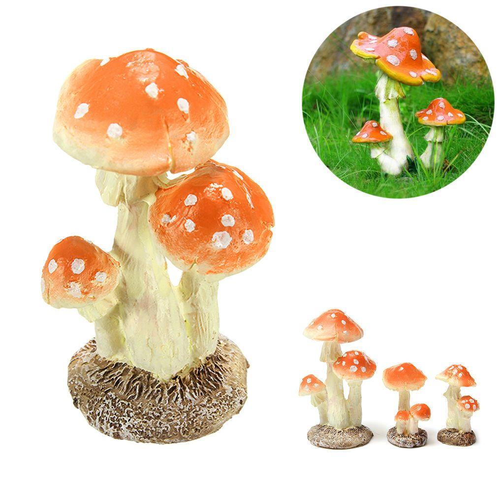 Mushroom Miniature Fairy Garden Terrarium Figurine Dollhouse Decor