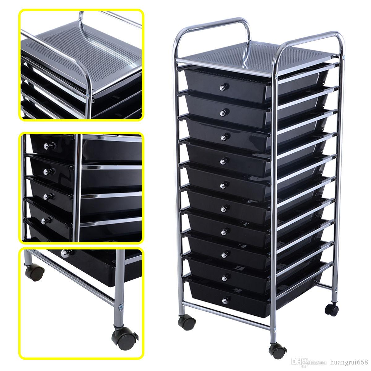 10 Drawer Rolling Storage Cart Scrapbook Paper Office School Organizer  Black Rolling Storage Cart Online With $38.32/Piece On Huangrui668u0027s Store  | DHgate. ...