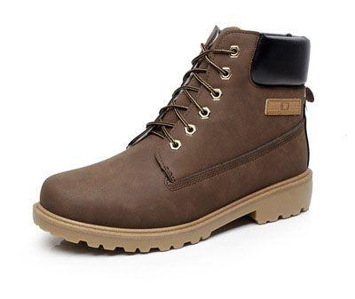 Mann warme Stiefel Wildleder Martin Stiefeletten für Männer England Stil verdicken Plüsch Herren Winter Stiefel Einzelhandel