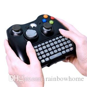 2.4G Mini Wireless Chatpad Test Message Game Qwerty Keyboard for Microsoft Xbox 360 One Controller Keyboard Adapter Receiver Retail Box Q1
