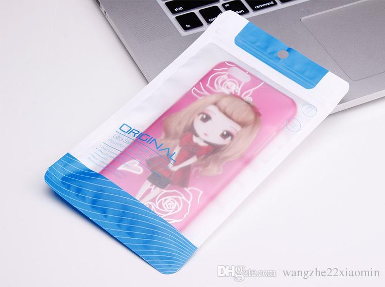 12*21.2cm 11*18.9cm Plastic Retail Packaging Package Pouch Bag for Mobile Phone case Accessories for iphone 5 6 6s