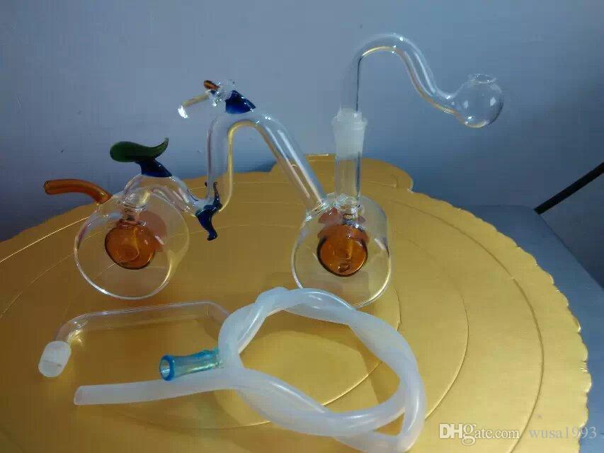 Cachimbo de água de bicicleta, tubos de vidro por atacado, garrafas de água de vidro, acessórios de fumar, entrega gratuita