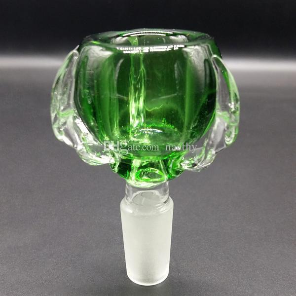 다채로운 드래곤 발톱 그릇 두꺼운 14.4mm 및 18.8mm 남성 유리 유리 그릇에 대한 공동 유리 그릇 물 파이프