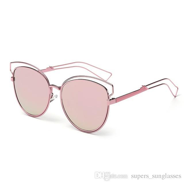 1672ee22928 New Fashion Real Metal Frame Sunglasses Women Brand Designer Retro Vintage  Sunglasses Cat Eye Glasses Oculos De Sol Feminino Bifocal Sunglasses Retro  ...