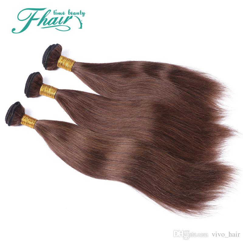 "Cheap Products 9A Malaysian Straight Human Hair #4 Chocolate Virgin Hair Weave Bundles 10""-30""Inch Length Hair"