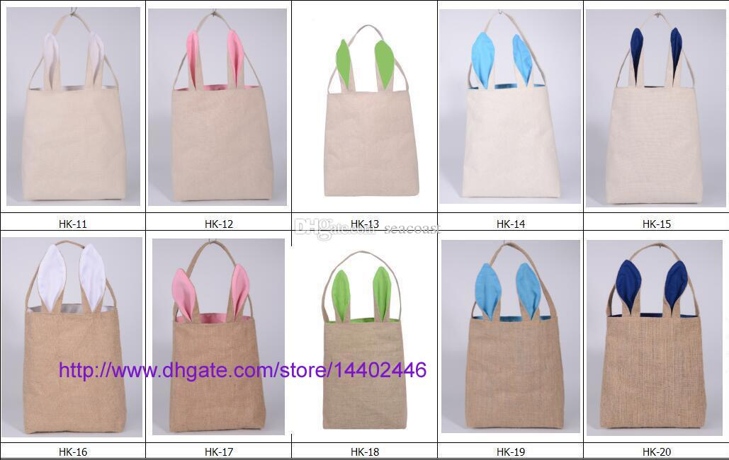 Best cotton lined linen canvas easter gift bag rabbit bunny ear 5 negle Image collections