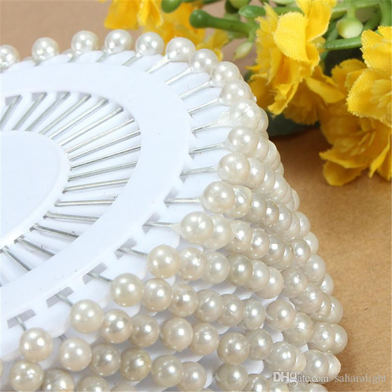 Vente chaude 35mm Blanc Tête Ronde Couture Perle Décoration Couture Broche Artisanat Pour La Maison Jardin DIY Artisanat Outil Accessoires