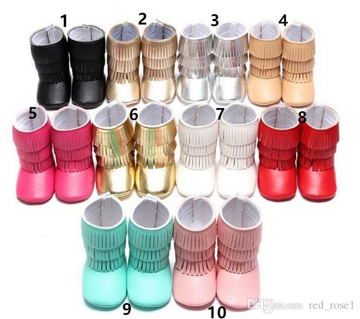 Hot ~ 14 Farbe Frühling Herbst neue Baby Troddel Kleinkind Schuhe Kinder Kinder weiche Unterseite Schuhe Mädchen Schuhe Kinder Schuhe