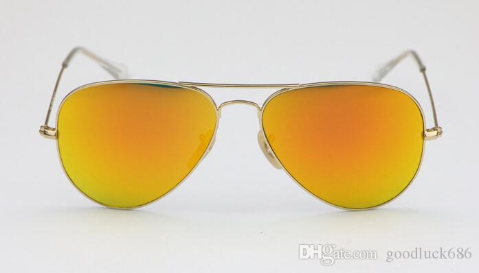 Высокое качество солнцезащитные очки Женщины мужчины солнцезащитные очки классические зеркальные очки дизайнеры праздник солнцезащитные очки унисекс очки 58 мм / 62 мм