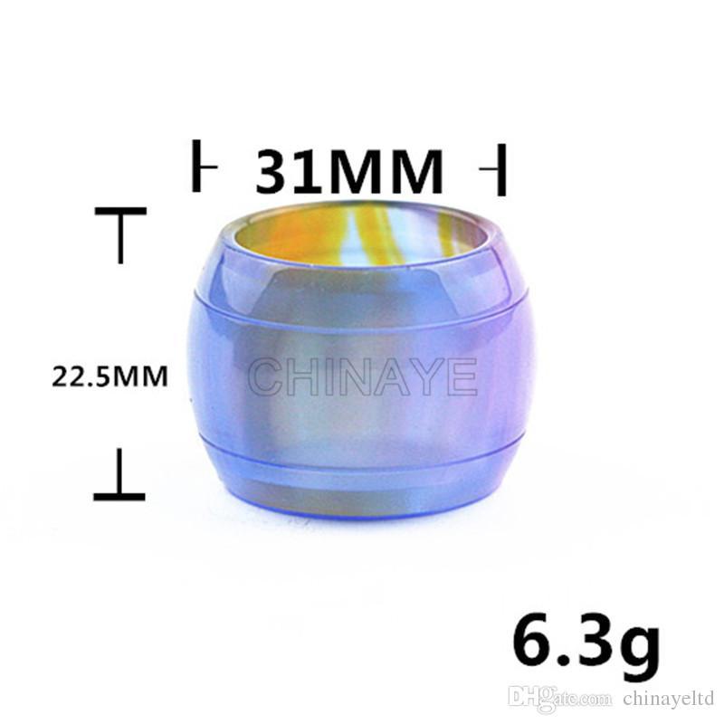 El tanque al por mayor del vape de la resina de las puertas dh para el tubo del reemplazo por el material de la resina de epoxy alta calidad de los colores