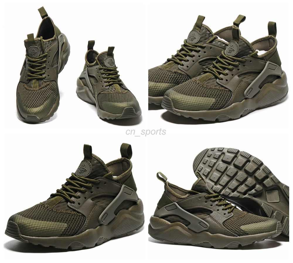 finest selection 6fb20 dcc9e Hot Selling air Huarache IV Running Shoes For Men & Women, Army Green High  Quality Sneakers Huaraches Outdoor Athletic Sport Shoes Eur 36-45