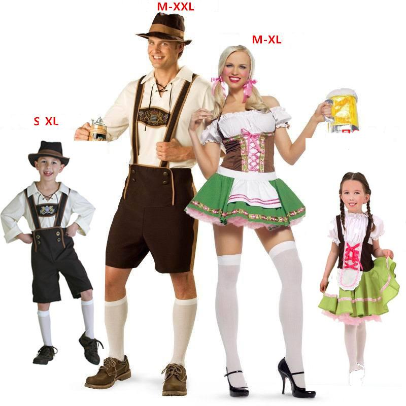 2018 sexy plus size family oktoberfest outfit costume bavarian octoberfest german festival beer cosplay halloween costumes for men women from infine