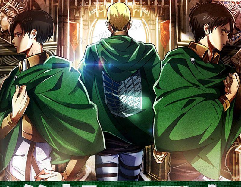 Angriff auf Titan Shingeki keine Kyojin Scouting Legion Top Cosplay Grade Umhang Cape für Eren Ackerman Armin Levi