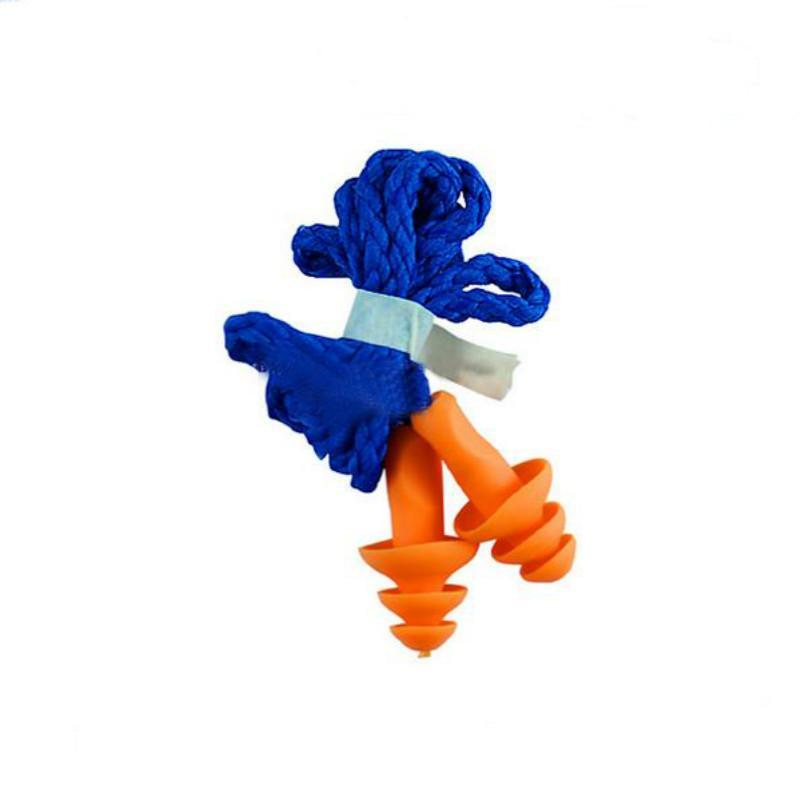 New Soft Silicone Corded Ear Plugs ears Protector Reusable Hearing Protection Noise Reduction Earplugs & can drop ship