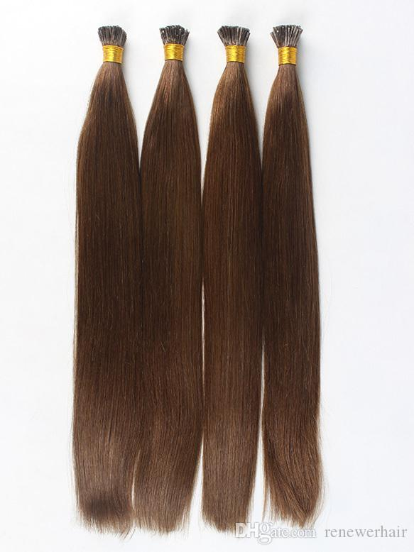 100strands 100g Indian I Tip Stick Tip Pre Bonded Human Hair