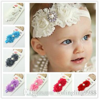 Großhandel Großhandelskinderblumen Stirnband Mädchen Perlen ...