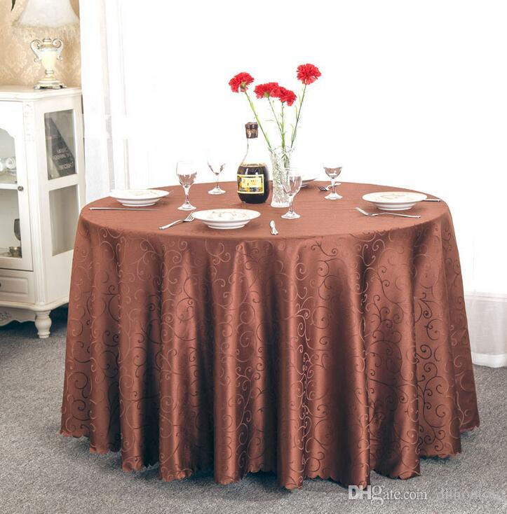 Table cloth Table Cover round for Banquet Wedding Party Decoration Tables Satin Fabric Table Clothing Wedding Tablecloth Home Textile WT021