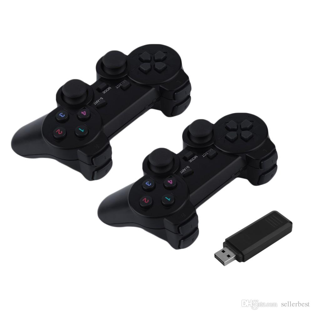 2x 2.4G USB Wireless Vibration Gamepad Controller Joystick Con 256 niveles 3D Stick analógico para PC portátil