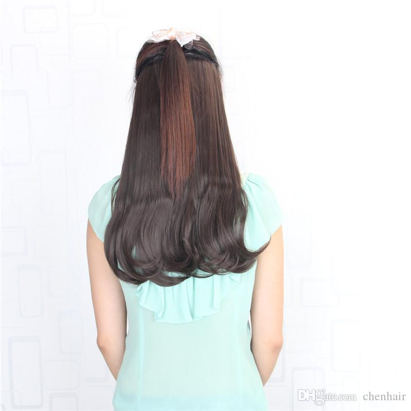 24inch 60cm 120g Man Made 5 Clips On Hair Extension Clip In Hair