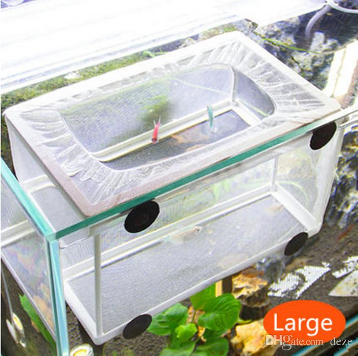 small nb3202a fish hatchery aquarium breeding hospital trap baby fish tank plastic frame net fry hatchery breeder breeding incubator isolat
