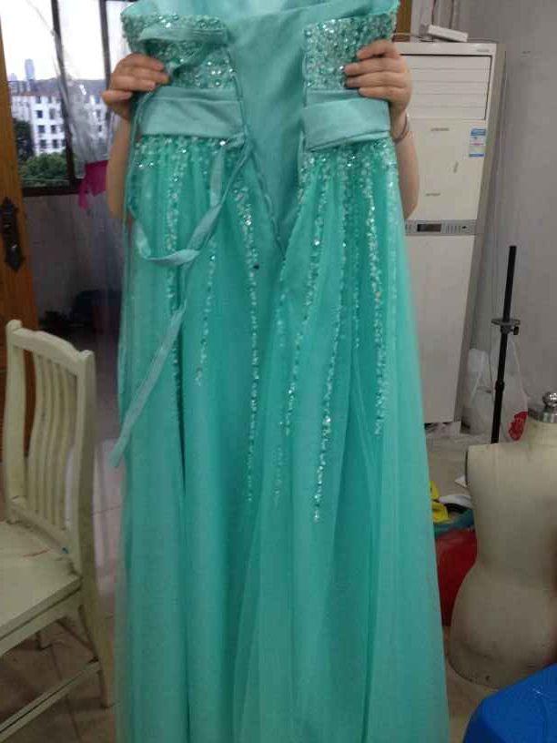 Sexy Sweetheart Crystal Beaded largo vestido de fiesta 2017 Lace Up Prom Gowns palabra de longitud vestidos de fiesta Foto Real