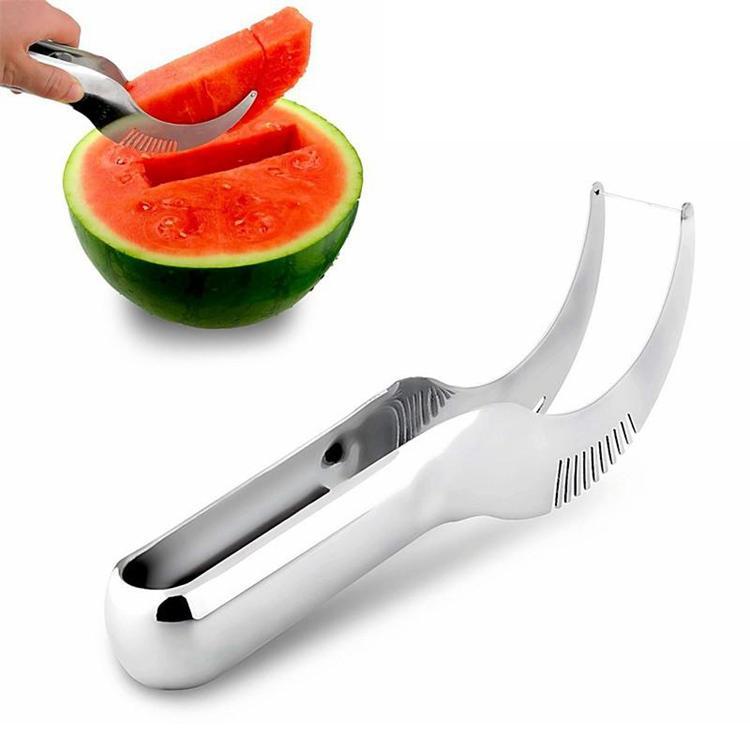 Summer Factory Price Watermelon Slicer Cutter Corer Splitter Scoop Safe Utensils Stainless Steel Tool Cantaloupe Cutter Splitter