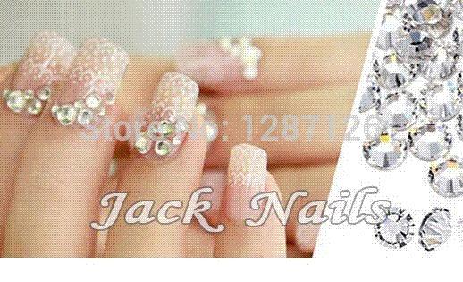 Nail Art Rhinestone Clear Crystal Ss3 13mm Pack Glue On Non Hotfix
