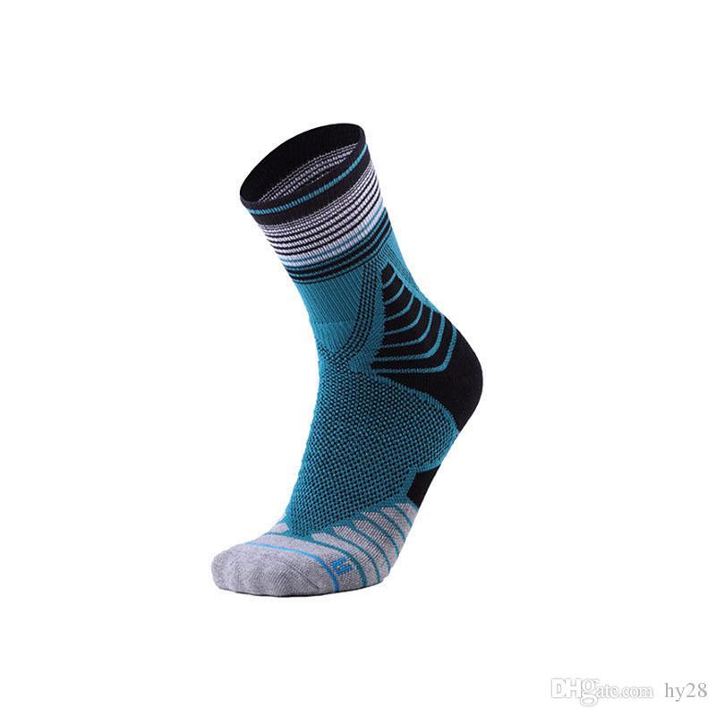 Hot Elite Men's Center Basketball Socks Towel Bottom Anti-skid Sports Socks Ventilated Dustproof Outdoor Sports Socks