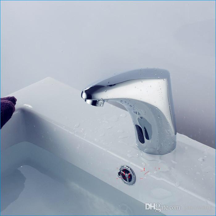 автоматический датчик смесители для ванной комнаты, блок управления переменного и постоянного тока + горячий и холодный клапан+3 шт. шланг, холодный и горячий кран, Бесплатная доставка J14349