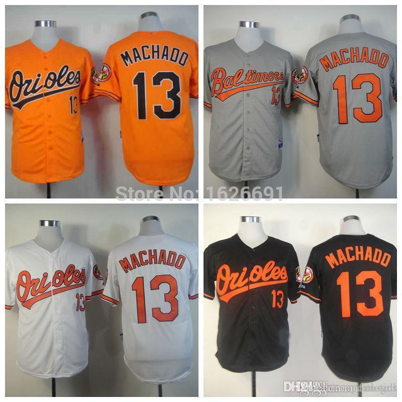 2dcdf690b ... aliexpress mens baltimore orioles 13 manny machado orange 2017 spring  training stitched mlb majestic flex base