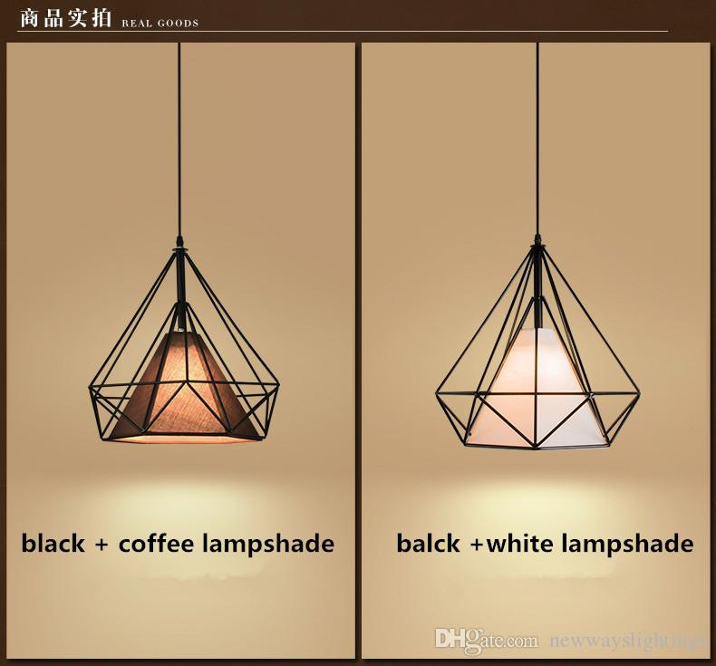 Product Indoor decorative pendant lamp E27 rounded globe diamond Iron lamp dining room bar counter coffee house decorate commercial lighting