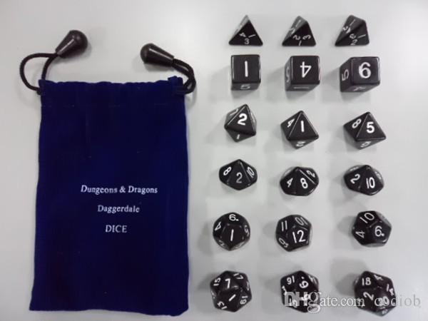 Multi Sided Dice Set * D4 D6 D8 D10 D12 D20 Dungeons & Dragons Daggerdale Dice Good Price High Quality #D6