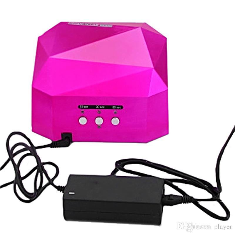 36 W Secador de Uñas Diamante en forma de Lámpara UV LED Lámpara de Uñas LED CCFL Curado para Uñas de Gel UV Polaco Nail Art Tools