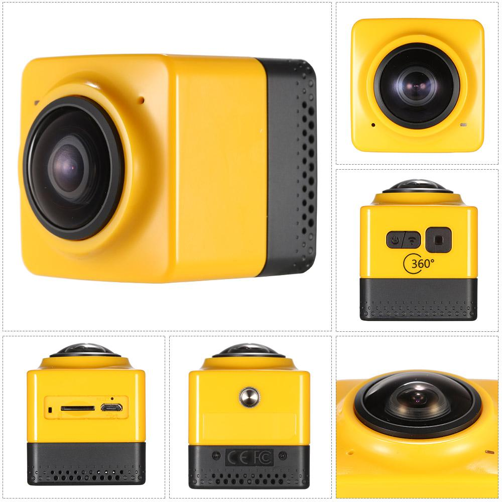 Küp 360 Spor Video Kamera WIFI H.264 1280 * 1042 360 Derece Panorama Kamera DHL Ücretsiz Kargo