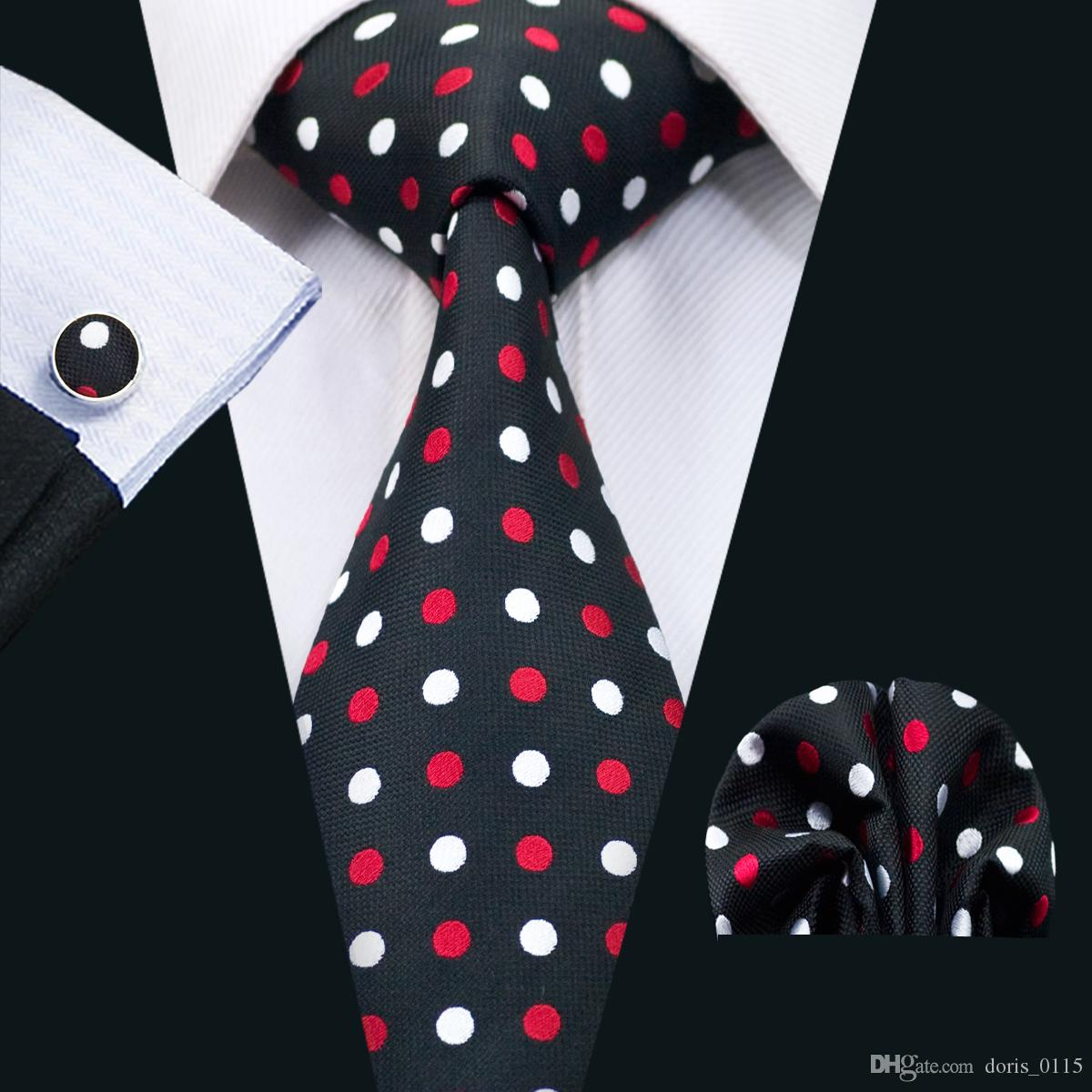 Fashion Men/'s Dot Style Necktie Jacquard Woven Tie Wedding banquet Working Tie